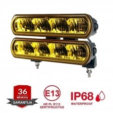 RAIN 2x LED BAR sertifikuoti žibintai OSRAM-CRDP 2x40W 2x3135LM 12-24V (E9 HR PL) COMBO 2x22cm
