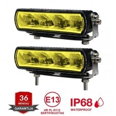 RAIN 2x MINI LED BAR sertifikuoti žibintai OSRAM-CRDP 2x20W 2x1515LM 12-24V (E9 HR PL) COMBO 2x16cm