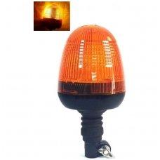 Sertifikuotas įspėjamasis LED oranžinis švyturėlis tvirtinamas ant vamzdžio