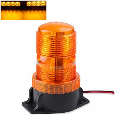 Sertifikuotas įspėjamasis LED 30SMD oranžinis švyturėlis prisukamas