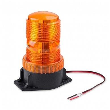 Sertifikuotas įspėjamasis LED 30SMD oranžinis švyturėlis prisukamas 2