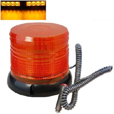 Sertifikuotas įspėjamasis LED 60SMD oranžinis švyturėlis su magnetiniu padu