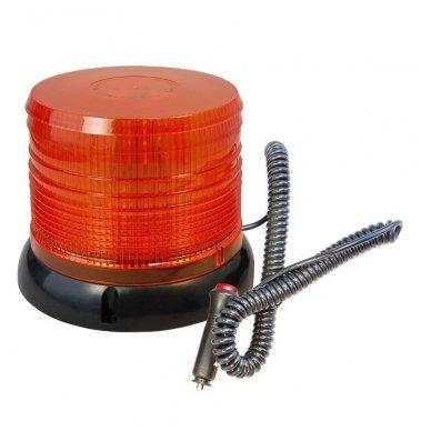 Sertifikuotas įspėjamasis LED 60SMD oranžinis švyturėlis su magnetiniu padu 2
