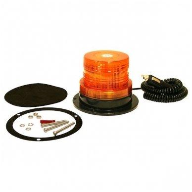 Sertifikuotas įspėjamasis LED oranžinis švyturėlis su magnetiniu padu 2