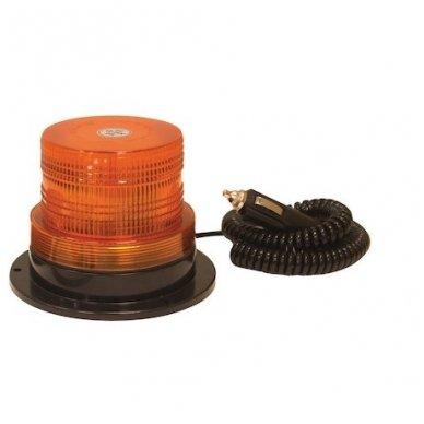Sertifikuotas įspėjamasis LED oranžinis švyturėlis su magnetiniu padu 4