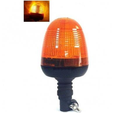 Sertifikuotas įspėjamasis LED oranžinis švyturėlis tvirtinamas ant vamzdžio 2