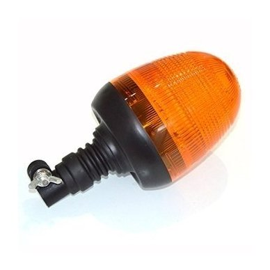 Sertifikuotas įspėjamasis LED oranžinis švyturėlis tvirtinamas ant vamzdžio 5
