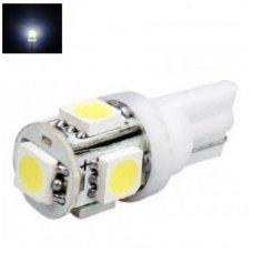 Šilta balta T10 / W5W 5LED - 12v led lemputė 3800K