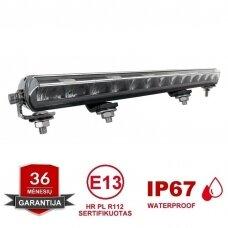 SLIM LED BAR su gabaritu sertifikuotas žibintas 84W 8400LM 12-24V (A02 E9 HR PL) COMBO 52cm