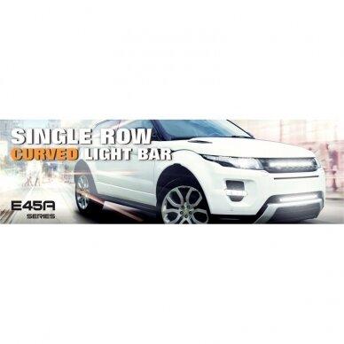 SLIM LED BAR lenktas sertifikuotas žibintas 84W 8400LM 12-24V (E9 HR PL) COMBO 52cm 4