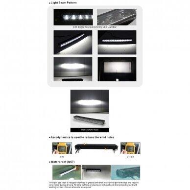 SLIM LED BAR lenktas sertifikuotas žibintas 84W 8400LM 12-24V (E9 HR PL) COMBO 52cm 17