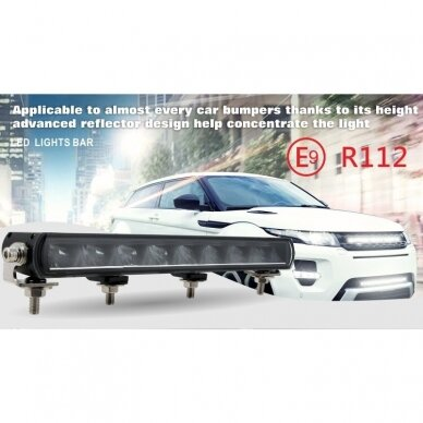 SLIM LED BAR sertifikuotas žibintas 84W 8400LM 12-24V (E9 HR PL) COMBO 52cm 21