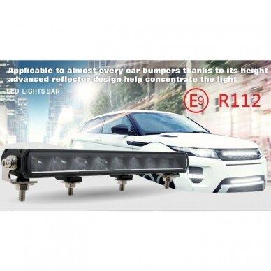 SLIM LED BAR sertifikuotas žibintas 56W 5600LM 12-24V (E9 HR PL) COMBO 36cm 20