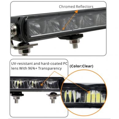 SLIM LED BAR sertifikuotas žibintas 56W 5600LM 12-24V (E9 HR PL) COMBO 36cm 8