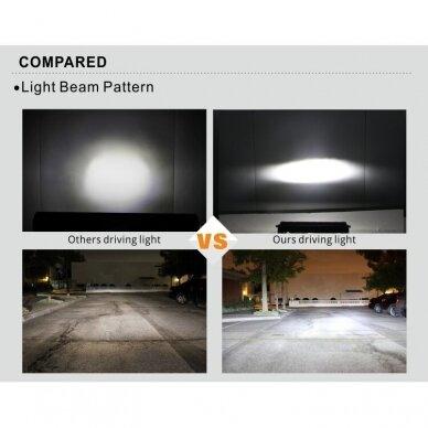 SLIM LED BAR lenktas sertifikuotas žibintas 84W 8400LM 12-24V (E9 HR PL) COMBO 52cm 24