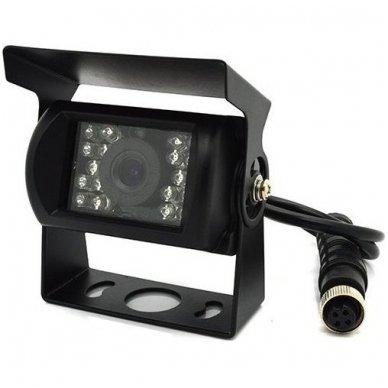Spec. technikos išorės vaizdo kamera 4PIN IP69K 12V-24V su IR LED