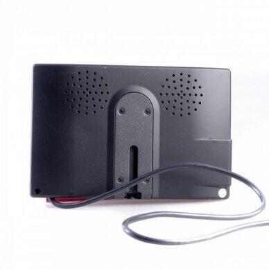 Spec. technikos LCD 7.0 colių monitorius 2 kanalų 12V-24V 5
