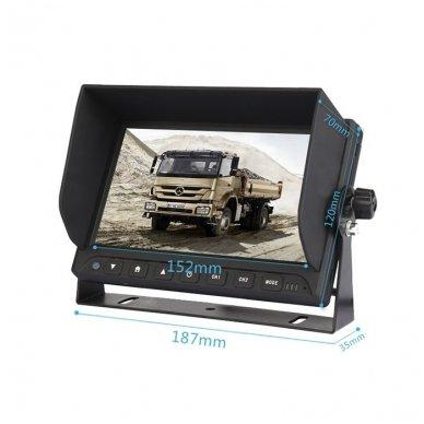 Spec. technikos LCD 7.0 colių monitorius 2 kanalų 12V-24V U-tvirtinimas 4