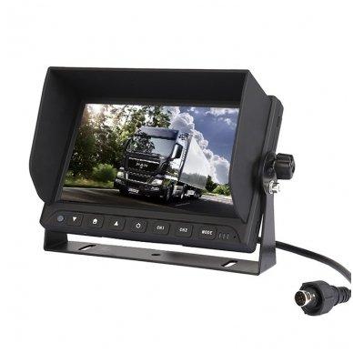 Spec. technikos LCD 7.0 colių monitorius 2 kanalų 12V-24V U-tvirtinimas 8