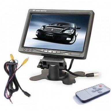 Spec. technikos LCD 7.0 colių monitorius vienai / keturioms kameroms 12V-24V 7