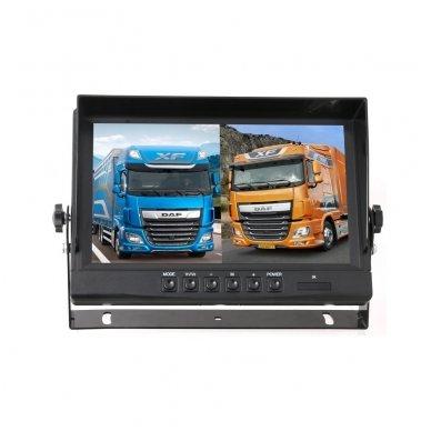 Spec. technikos LCD 9.0 colių monitorius 4 kanalų 12V-24V U-tvirtinimas 5