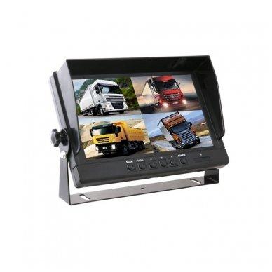 Spec. technikos LCD 9.0 colių monitorius 4 kanalų 12V-24V U-tvirtinimas 3