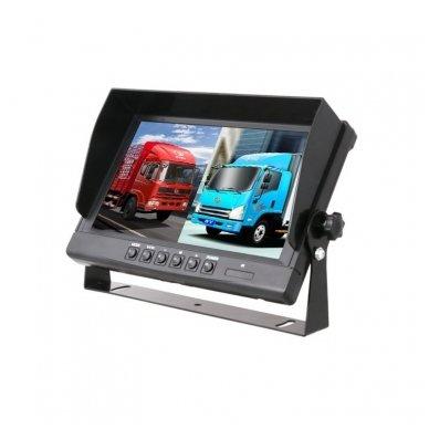Spec. technikos LCD 9.0 colių monitorius 4 kanalų 12V-24V U-tvirtinimas 6