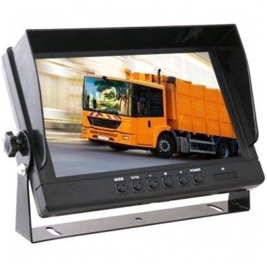 Spec. technikos LCD 9.0 colių monitorius 4 kanalų 12V-24V U-tvirtinimas