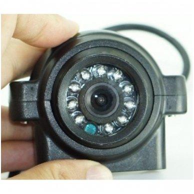 Spec. technikos mini išorės vaizdo kamera IP67 12v-24v su IR LED naktiniu matymu 4