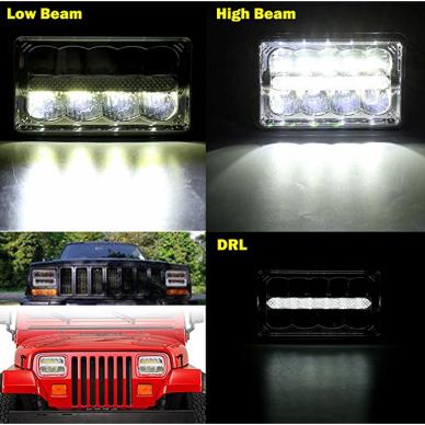 Sunkvežimių priekinis CREE LED žibintas 45W artimos/ tolimos/ gabaritas 9-32V 8