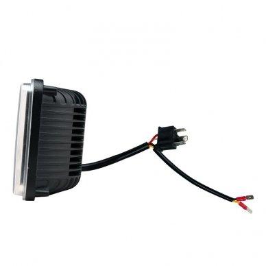 Sunkvežimių priekinis CREE LED žibintas 45W artimos/ tolimos/ gabaritas 9-32V 5
