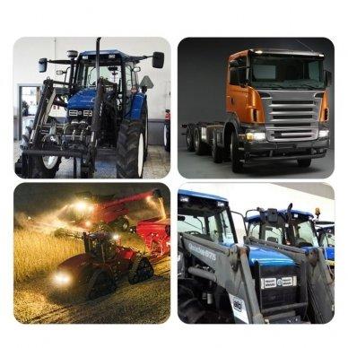 Sunkvežimių priekinis CREE LED žibintas 45W artimos/ tolimos/ gabaritas 9-32V 3