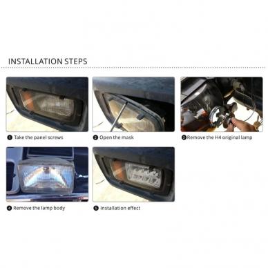 Sunkvežimių priekinis CREE LED žibintas 45W artimos/ tolimos/ gabaritas 9-32V 13