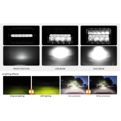 Sunkvežimių priekinis CREE LED žibintas 45W artimos/ tolimos/ gabaritas 9-32V 10