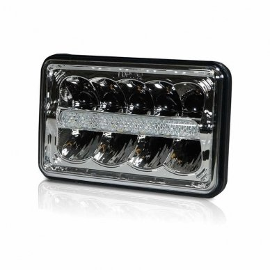 Sunkvežimių priekinis CREE LED žibintas 45W artimos/ tolimos/ gabaritas 9-32V 2