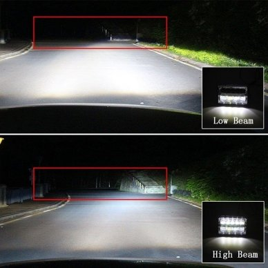 Sunkvežimių priekinis CREE LED žibintas 45W artimos/ tolimos/ gabaritas 9-32V 9