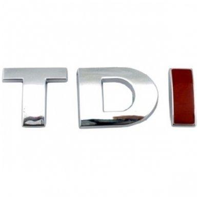TDI chrome pilkas su raudona I ženkliukas