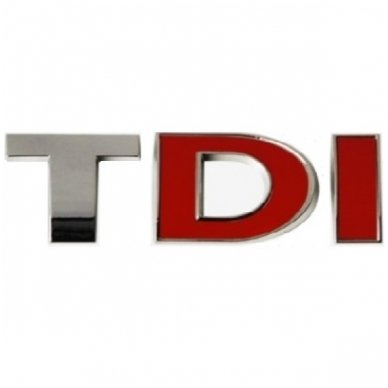 TDI chrome pilkas su raudonom DI ženkliukas