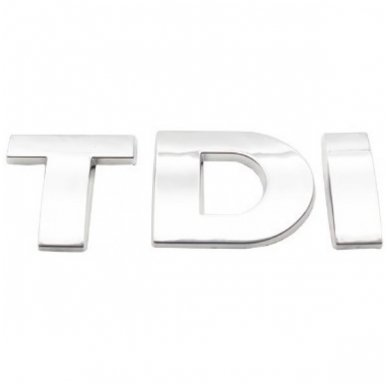 TDI chrome pilkas ženkliukas