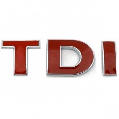TDI raudonas ženkliukas