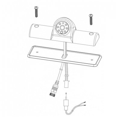 Universali galinio vaizdo kamera integruota stabdžio žibinte 9
