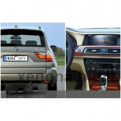 Vaizdo kamera su IR LED - automobilio valstybinio numerio rėmelis 6