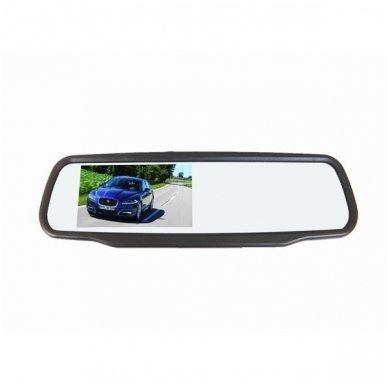 Veidrodėlis HD 4.3 colių LCD automobilio monitorius 12V-24V 2