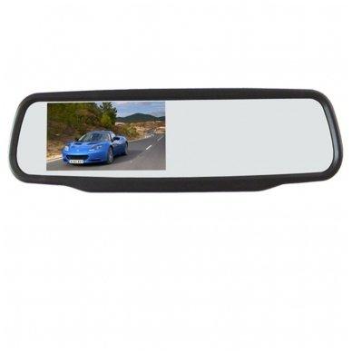 Veidrodėlis HD 4.3 colių LCD automobilio monitorius 12V-24V 3