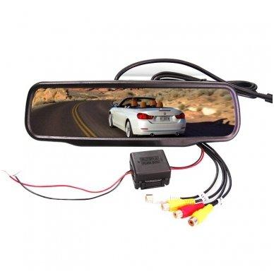 Veidrodėlis HD 4.3 colių LCD automobilio monitorius 12V-24V