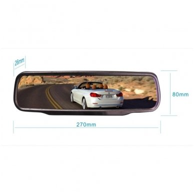 Veidrodėlis HD 4.3 colių LCD automobilio monitorius 12V-24V 7