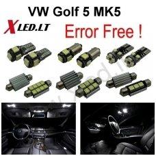 Volkswagen Golf 5 LED salono apšvietimo lempučių komplektas
