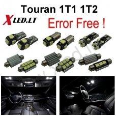 Volkswagen Touran 1T1 1T2 LED salono apšvietimo lempučių komplektas