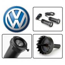 VOLKSWAGEN VW automobilio LED 3D logotipas šešėlis į duris šviečiantis ant žemės- įgręžiamas
