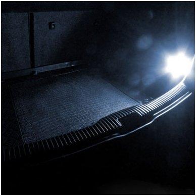 Volkswagen Golf 6 LED salono apšvietimo lempučių komplektas 11